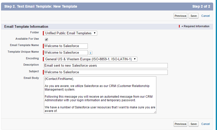 Save Time By Creating Email Templates In Salesforce