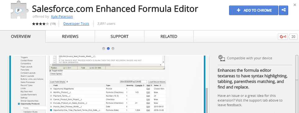 Salesforce Enhanced Formula editor