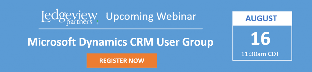 Aug 16 Dynamics CRM User Group