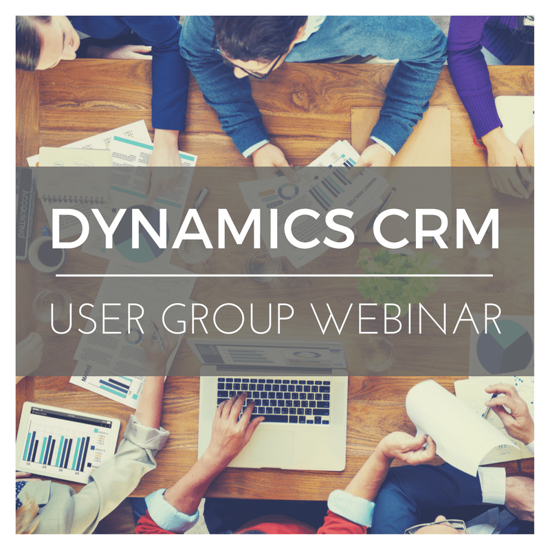 dynamics crm user group webinars