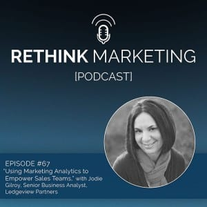 'Empowering the Sales Team with Marketing Analytics' - Act-On Software Podcast Episode, Featuring Jodie Gilroy of Ledgeview Partners