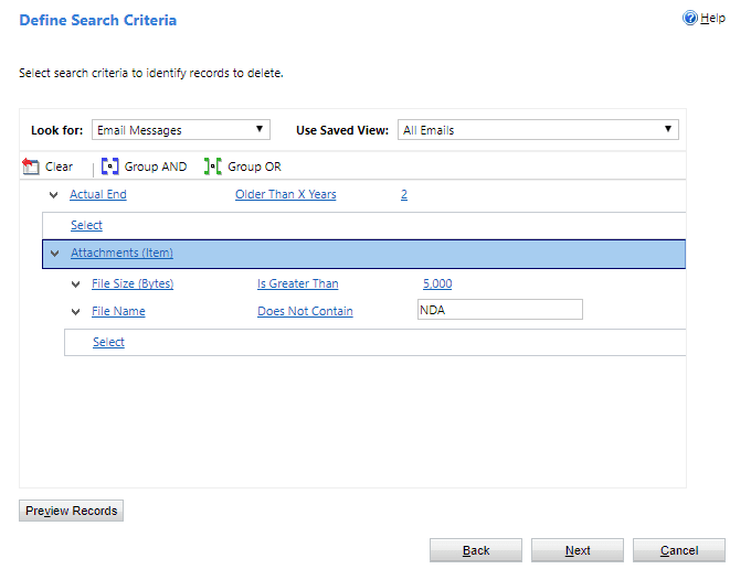 How to Define Search Criteria in Dynamics 365/CRM