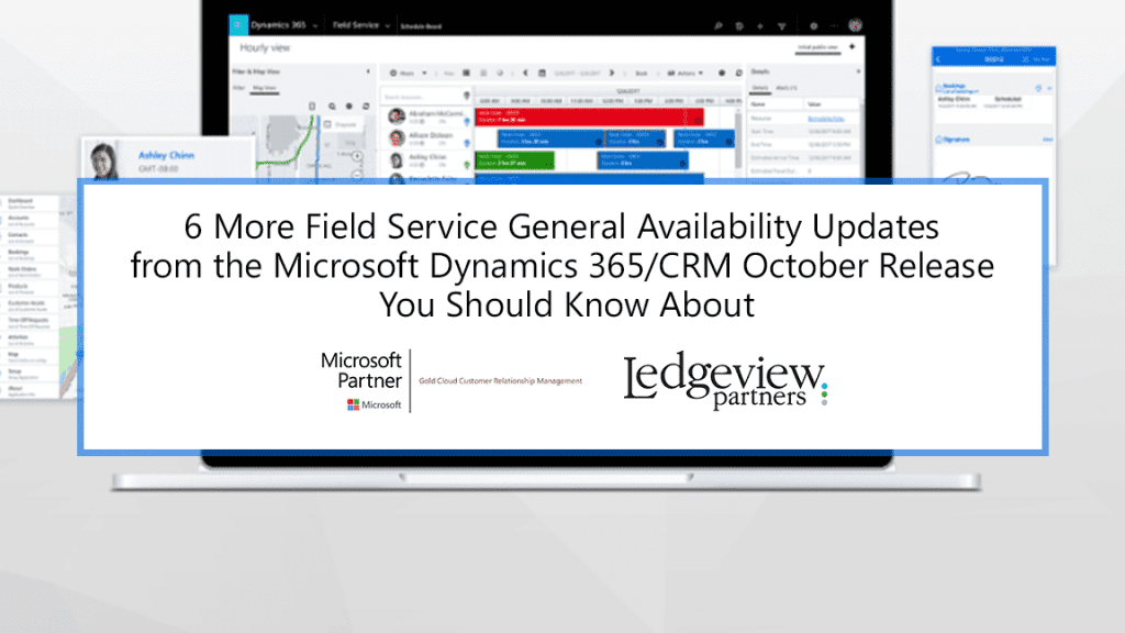 Ledgeview Partners October Release Notes